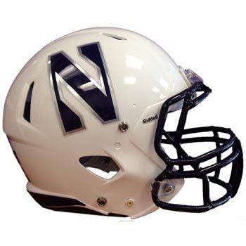 Northwestern University Wildcats Football Helmet 2013 by Riddell (white)