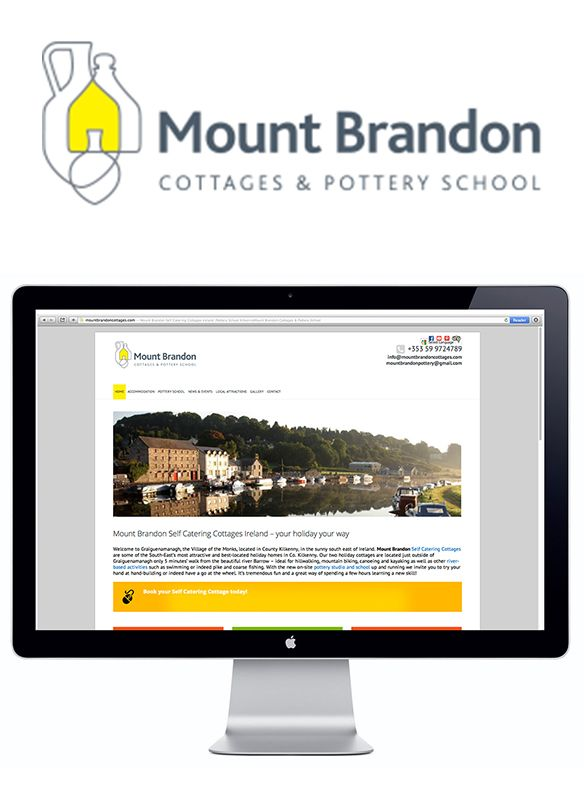 Mount Brandon Cottages & Pottery School - Identity and Website. www.akgraphics.ie