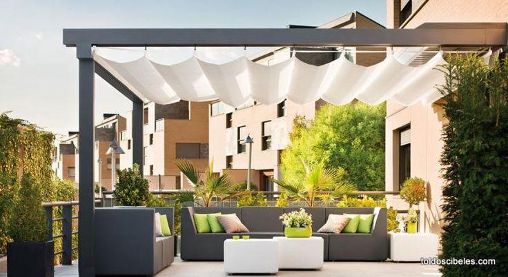 Esta pérgola es ideal para crear un nuevo espacio en tu terraza y asi disfrutar de un estupendo cenador al aire libre