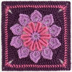 Crochet square by Banphrionsa - free Ravelry download