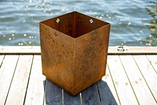 First Bloom in corten steel. Available in two sizes. Made in Sweden.