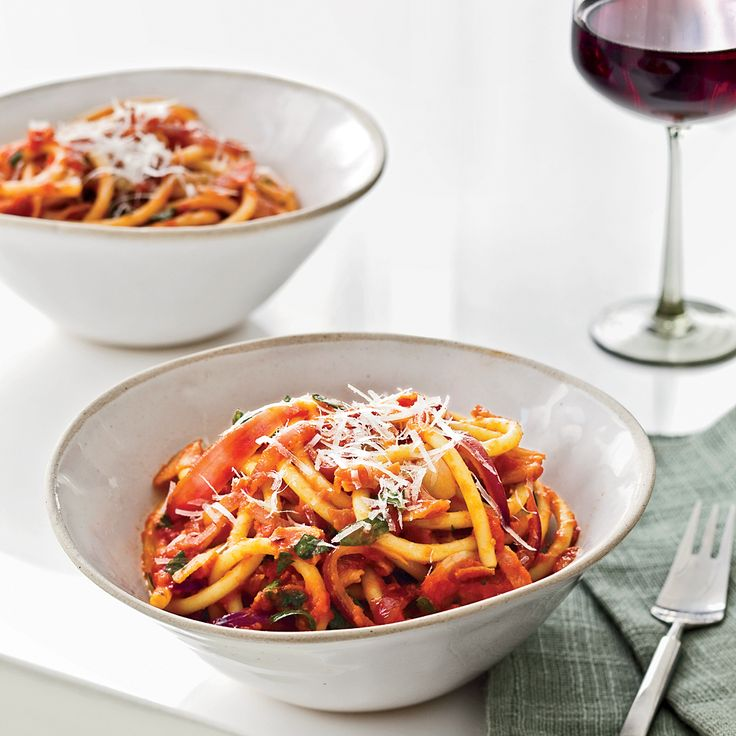 Chef Way At New York City's Babbo, Mario Batali creates a simple, brilliant version of this classic dish, tossing the long, hollow pasta strands with ...
