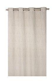 PAISLEY LINEN LOOK LINED 225X225CM EYELET CURTAIN