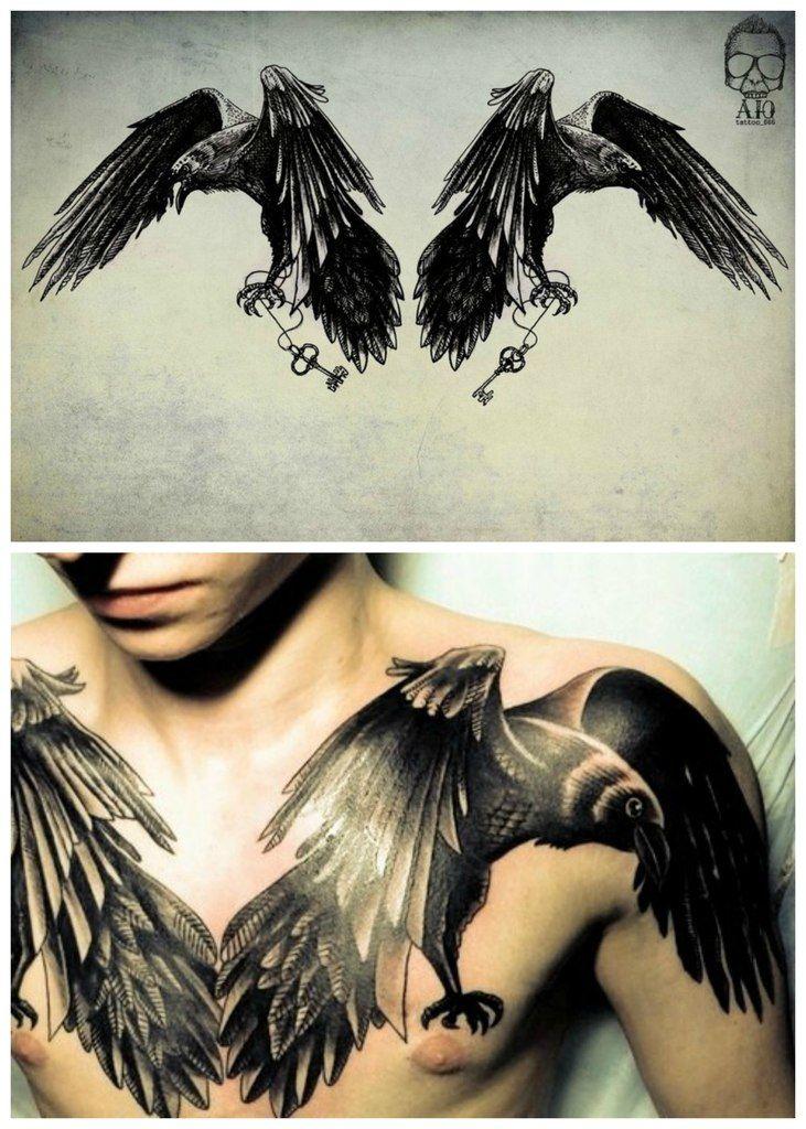 Tattoo On Chest Ravens Raven Tattoo Ideas Raven Tattoo Tattoos
