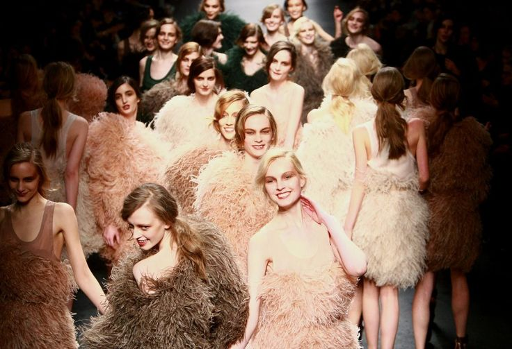PARIS, FRANCE - MARCH 07:  Models walk the runway during the Sonia Rykiel Ready to Wear show as part of the Paris Womenswear Fashion Week Fall/Winter 2011 at Halle Freyssinet on March 7, 2010 in Paris, France.  (Photo by Victor Boyko/Getty Images)