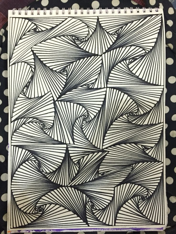 Illusion! I used black marker for this and sketch paper.