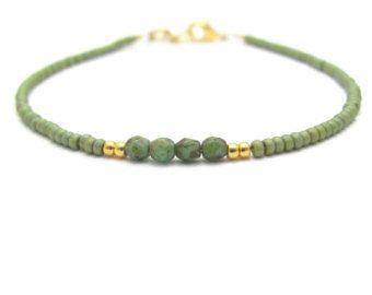 Rosa braccialetto turchese verde amicizia rosa perline