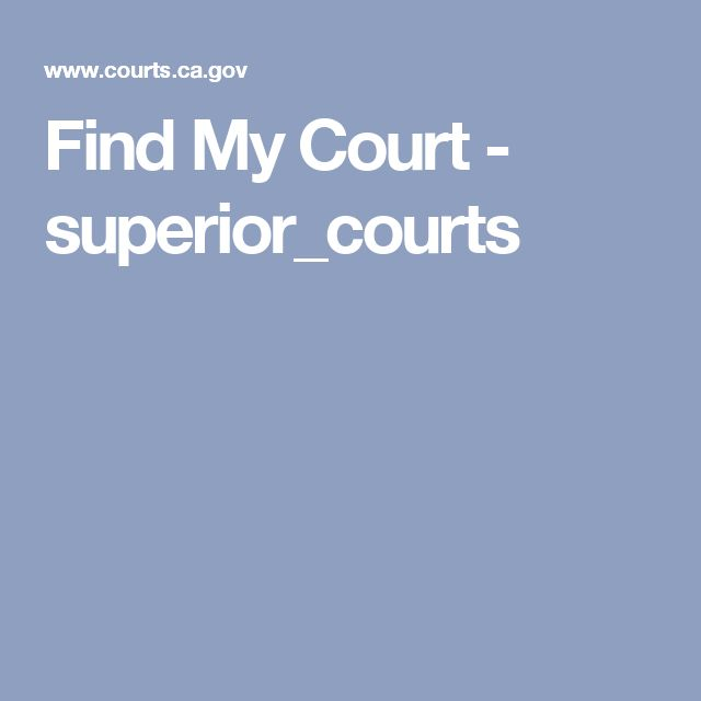 Find My Court - superior_courts