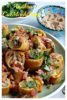 Stuffed Mirchi Bajji / Andhra cut mirchi bajji