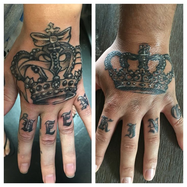 Couple Tattoos King And Queen....