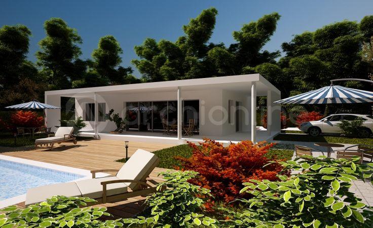 villa Meleze - Plan de maison Moderne par Archionline