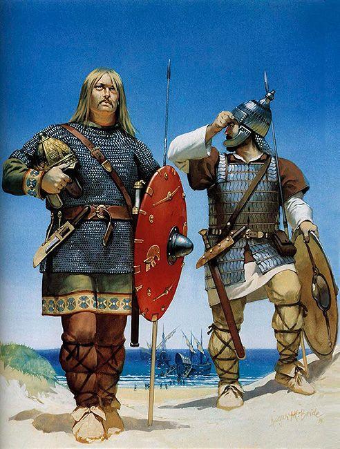 Angus McBride - Guerreros vándalo y alano en el Norte de África, siglo V dC