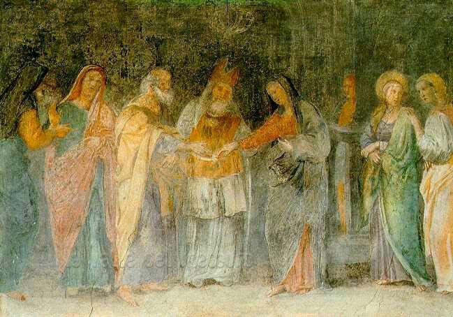 1618. Sposalizio di Maria.  Cappella Nolfi nel Duomo di Fano