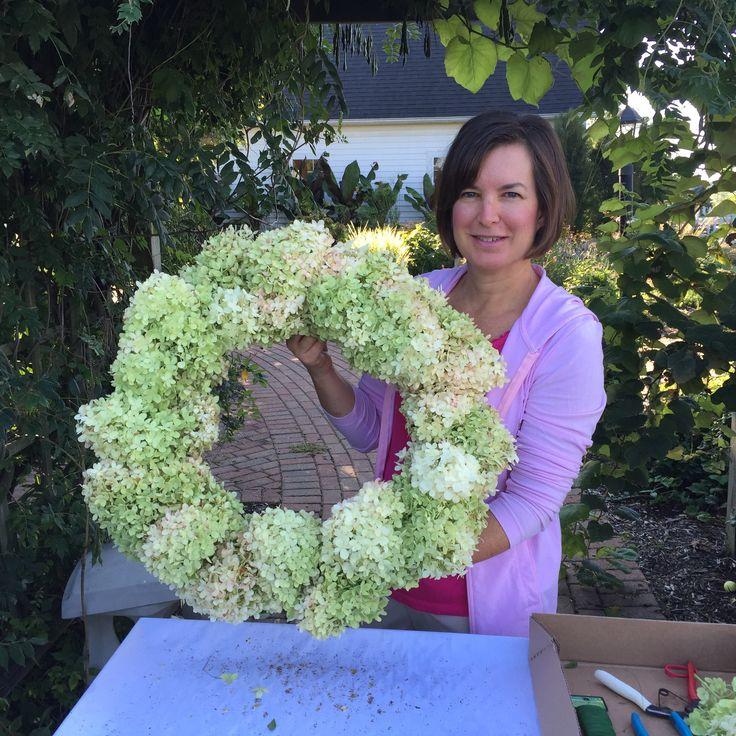 Hydrangea Limelight Wreath!