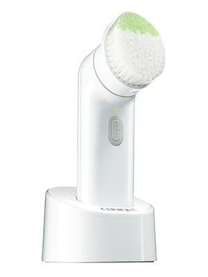 CLINIQUE - Sonic System Purifying Cleansing Brush. A physical exfoliation and cleansing tool. Use weekly for deeper facial exfoliation.
