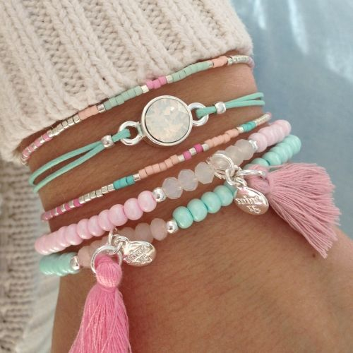 Tassel Bracelet - Soft Pink - Mint15