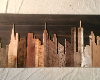 Hand Crafted New York City 48 Skyline by legacybuilding on Etsy