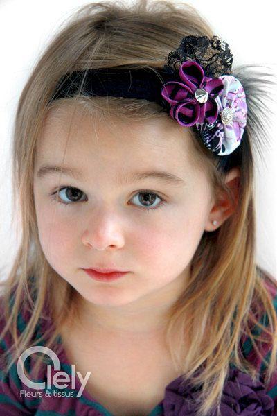New plum and black headband  lace headband  adult by Olely on Etsy
