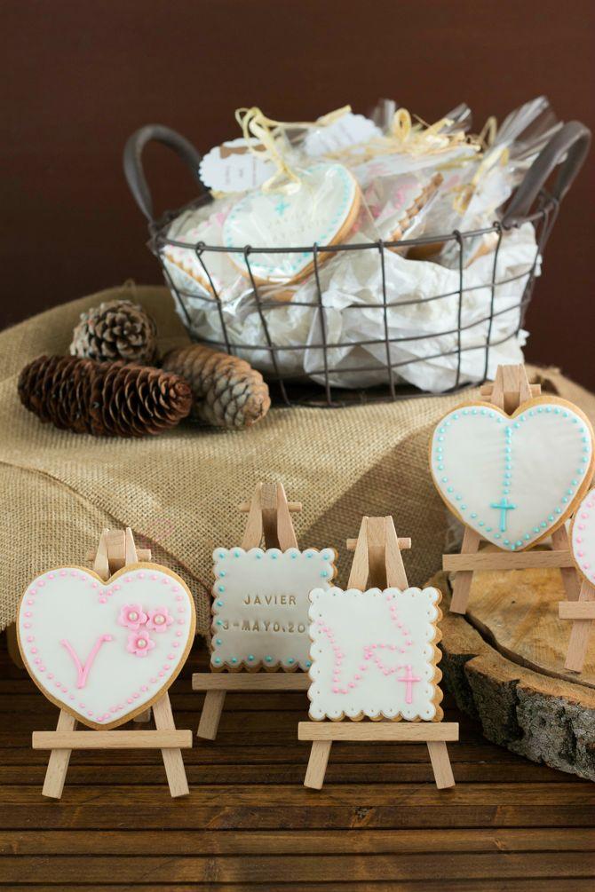C mo decorar galletas de forma f cil y sencilla bautizos - Como decorar una comunion ...