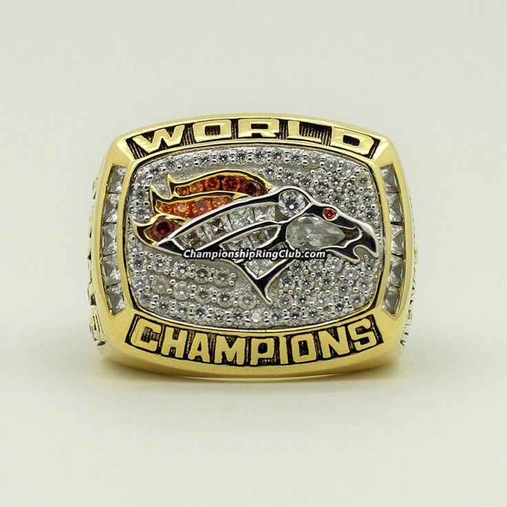 1997 Denver Broncos Super Bowl XXXII Championship Ring. Best gift from www.championshipringclub.com for Denver Broncos fans. Custom your own personalized  ring now!