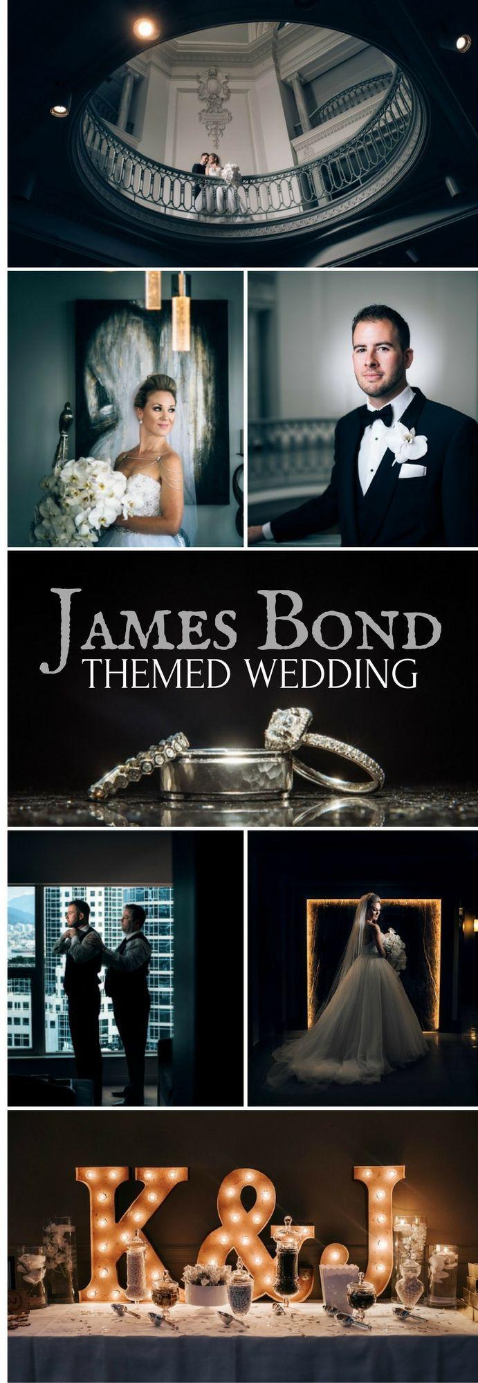 James Bond Themed Wedding | Elegant and Romantic Movie Inspired Wedding Idea