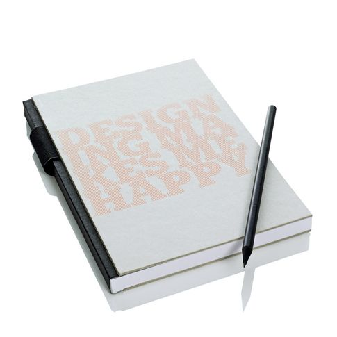 Notizbuch in grau/neonorange, schwarz/weiß bei IMPRESSIONEN
