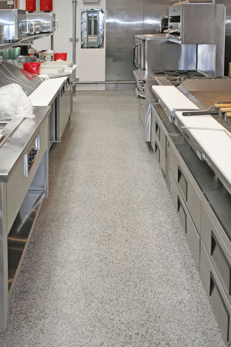 The Installation Is Fast And Easy And Because We Use Only The Highest Quality Resins There Are Restaurant Flooring Kitchen Flooring Kitchen Flooring Options