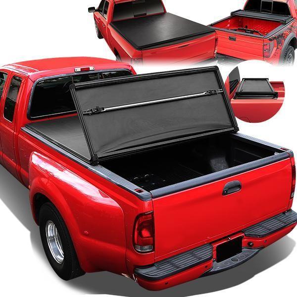 99 07 Chevy Silverado Gmc Sierra Fleetside 8 Bed Soft Folding Tri Fold Tonneau Cover In 2020 Tonneau Cover Tri Fold Tonneau Cover Truck Tonneau Covers
