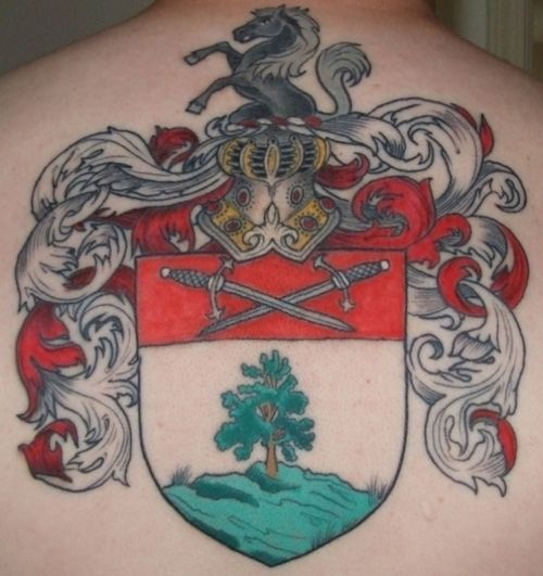 197 best images about coat of arms crest tattoos on for Tattoo cork ink