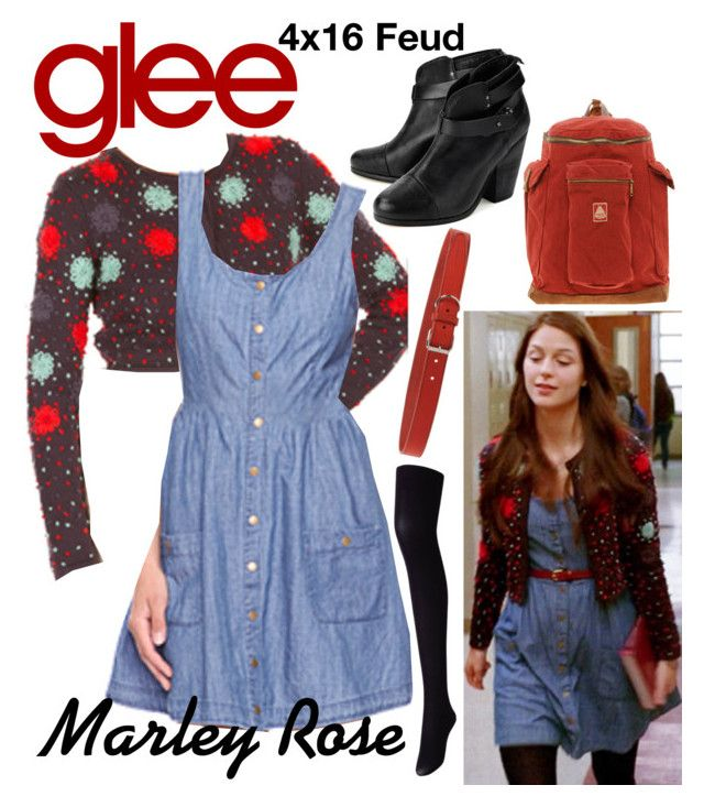 Marley Rose (Glee) : 4x16 by aure26 on Polyvore featuring polyvore, fashion, style, Uniqlo, rag & bone, Dsquared2, clothing and glee