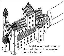 De laatste fase van de werkzaamheden aan de Saksische kathedraal van Canterbury viel samen met die van de Ottomaanse Romaanse kerken van midden 10e tot begin 11e eeuw. Mogelijk onder de aartsbischoppen Lyfling (1013-20) of Aethelnoth (1020-38). Dergelijke verbouwingen zijn bekend uit Mainz, Hildersheim, Gernrode, en Trier.