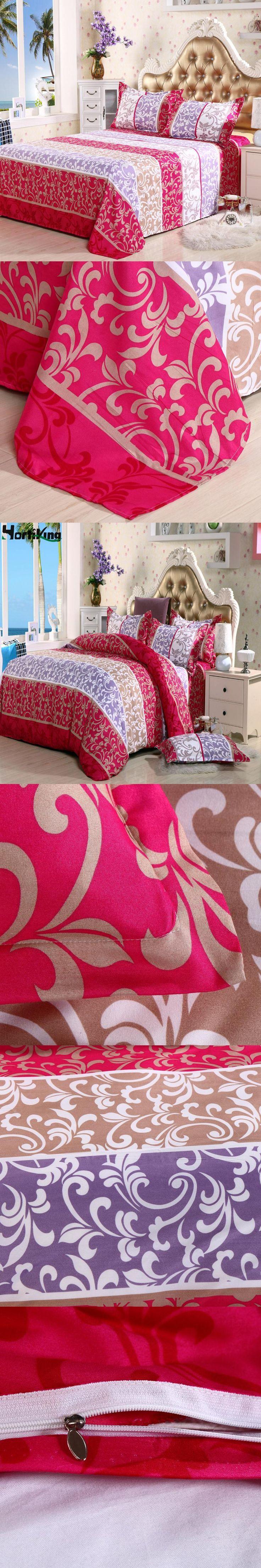 Home Textile 4 PCS/Lot cotton Bedding Sets Print Bed Set Duvet Cover Bed Sheet Pillowcase King/Queen/Full/Twin Size Bedding Set