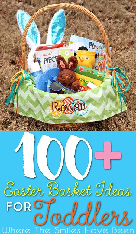 Over 100 Easter Basket Ideas for Toddlers! | Where The Smiles Have Been.  Here is a GREAT list of lots of unique ideas to make Easter extra special for your little one! #Easter