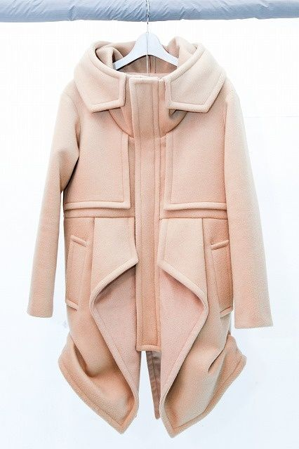 jacket | visually complicated but the blush pink is unexpected for winter.