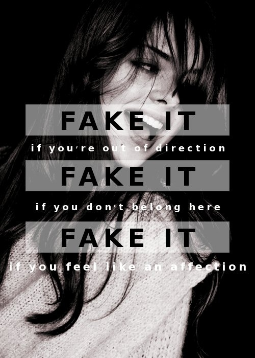 (self-made, photo not mine) Fake It by Seether