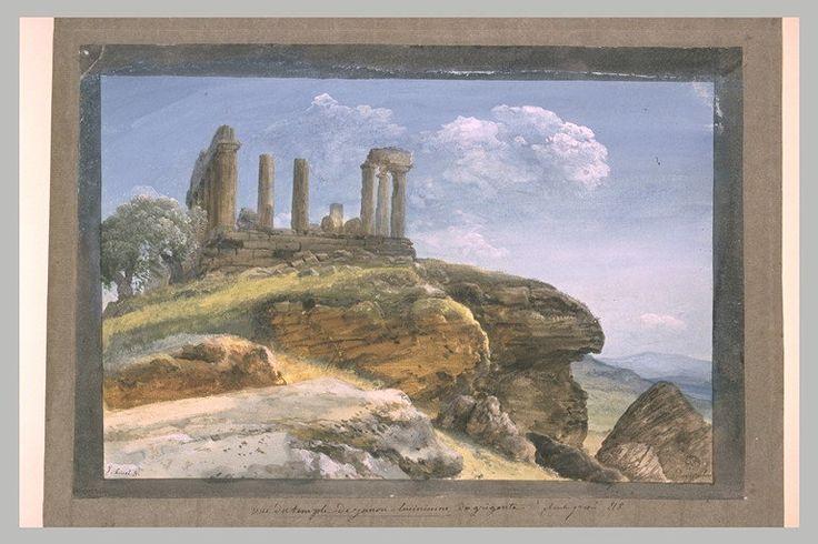 Inventaire du département des Arts graphiques - Le temple de Junon Lucinienne à Agrigente - HOUEL Jean Pierre