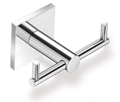A double bath robe hook, towel hook from TEMPO collection is made of high brass galvanized with chrome that results in high quality of the product. The quality is confirmed with 12 year guarantee. www.sancodesign.co.uk