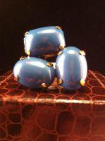 Anillo de tres piedras azules. Taalla 18. - Vista detallada del artículo - DIVA & VANITAS, TU TIENDA ON LINE!!