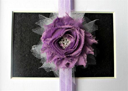 Mauve & Lavender - Toddler/Girl Stretch headband madeit.com.au/moobearcreations