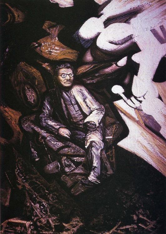 José Clemente Orozco. 1947.  Piroxilina. 122 x 100 cm.  Museo Carrillo Gil, México, México.