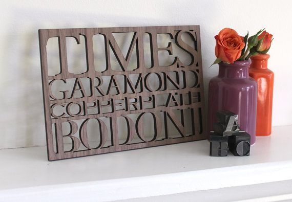 Serif Typography Wall Art 5x7 by peppersprouts on Etsy, $30.00