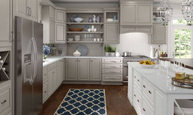 Lowe S Medallion Cabinets Wall And Base Cabinetry Shown