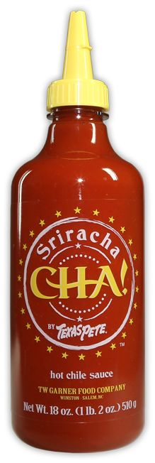 CHA! by Texas Pete® Sriracha Sauce - You'll crave the blend of spicy sweetness that makes it the perfect topping for pasta, pizza, hot dogs & hamburgers.