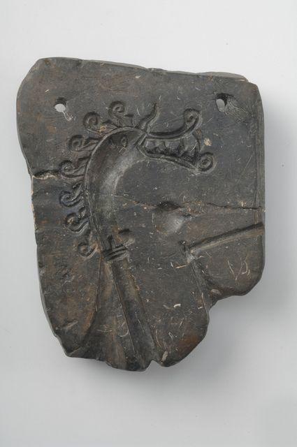 The original soapstone mould found in the 1870s. Birka Dragon
