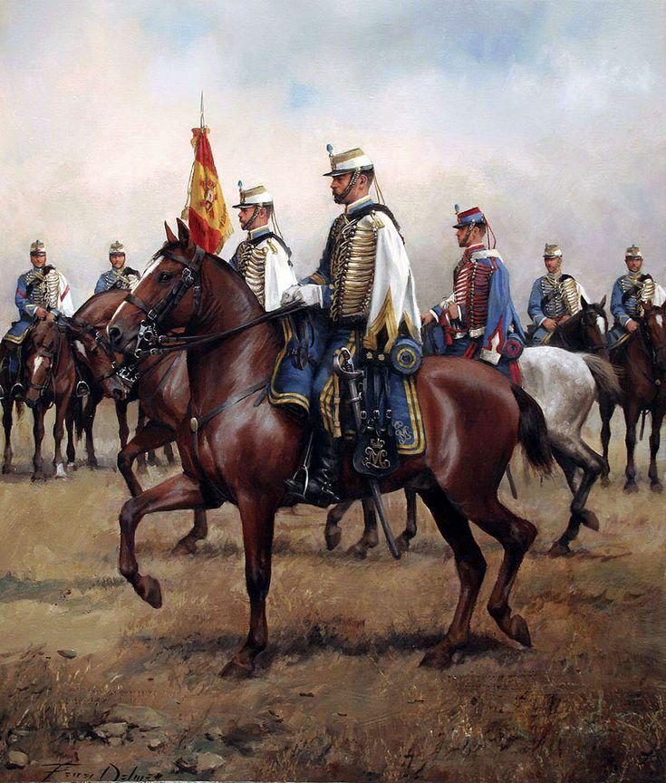Húsar de la princesa 1877. Artista augusto Ferrer Dalmau. http://www.elgrancapitan.org/foro/viewtopic.php?f=21&t=11680&p=917465#p917456