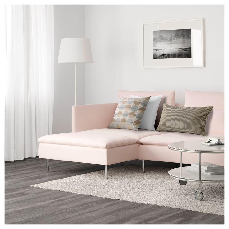 Ikea S 214 Derhamn Sectional 5 Seat Samsta Light Pink In