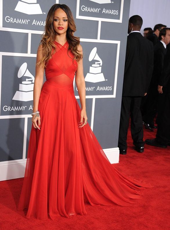 Rhianna Grammy Dress by Azzedine Alaïa, 2014
