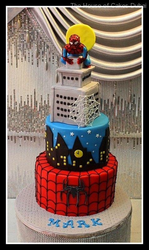 Spiderman Cakes in Dubai