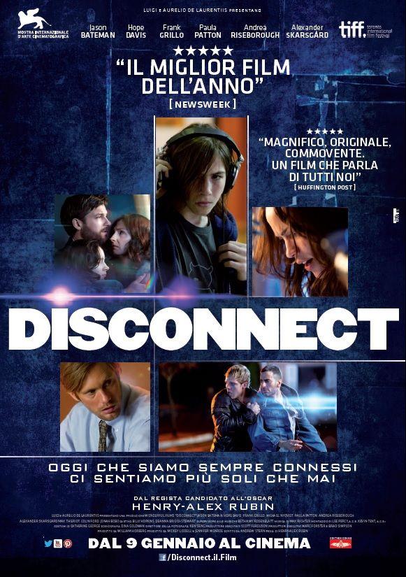 Il poster ufficiale italiano di DISCONNECT