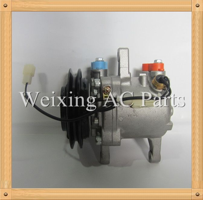 92.00$  Watch now - http://alitg7.worldwells.pw/go.php?t=32556065506 - Truck ac parts Air conditioner compressor for 155 Kubota excavator SV06E 447260-5351 24V  92.00$